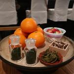 HIGASHIYA GINZA - 季節のお茶6種類のプレゼンテーション