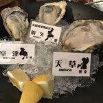 80430984 - 牡蠣の三種盛り