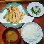 北の杜 市 - 天ぷら定食 1500円