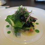 東洋軒 - 30年2月 淡路真鯛のカルパッチョ 菜花ソース