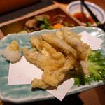 黒豚料理 寿庵 - きびなご天ぷら