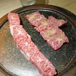 肉と八菜 OTOKICHI - ヨシワラ&田子ニンニク塩ハラミ