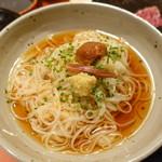 肉と八菜 OTOKICHI - 佐藤養悦さんの稲庭千饂飩