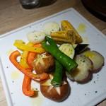 肉と八菜 OTOKICHI - 厳選焼野菜盛り合わせ