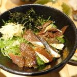 本町製麺所 天 - うるめいわしの漬け丼