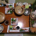 竜宮料理の宿 八島 - 料理写真:夕食 2017.12.23
