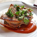 アメニテ ギンザ - 鶏もも肉の炭火グリル~レンズ豆と唐辛子のピュレ~