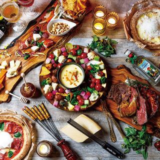肉×チーズをワインや泡で楽しむ「QUATTROTABLE」