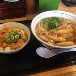 ウエスト - 料理写真:玉子丼セット680円+ごぼう天150円
