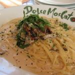 ドルチェモスカート - 牛肉グレイビーソースときのこの明太子クリームソース
