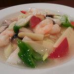 日昌園 - 三種海鮮の炒め