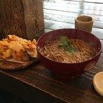 Sobadosanjin - かき揚げ天蕎麦〜(*´ω.`*)/¥1650円