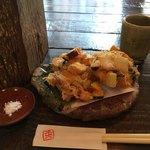 蕎麦 土山人 - かき揚げあっぷd(^_、^o)