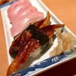 魚がし鮨 - 大トロ&鰻握り