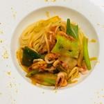 80453813 - 桜海老と信長葱のスパゲッティ