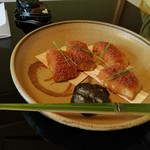 菊乃井 - 鰈のカラスミ焼き
