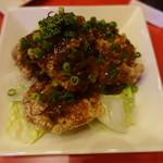 ASIANバル MAMAYA - チキンから揚げ油淋鶏ソース(560円)