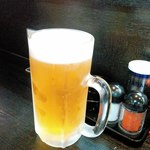 やまき - 生ビールはサッポロ黒ラベル