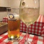 シチューとラクレットの店 cocotte - 生ビール、ミントとライムのサングリア