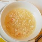 春蘭門 - 蟹肉入りふかひれスープ