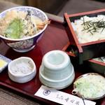 寿司辰 - 料理写真:天丼セイロ・ざるきし二段