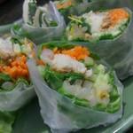 アジアンキッチン サワディー - ライスペーパーがモッチリしてて旨いです。