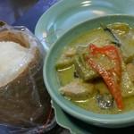 アジアンキッチン サワディー - グリーンカレーは辛めで好みの味。