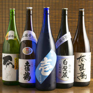 本町初!飲み放題で全国の地酒毎日30種類以上!単品380円