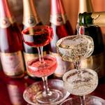 ビストロ&バル ラポール - こぼれスパークリングワイン・ロゼ