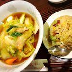 80469629 - 広東麺と半チャーハン