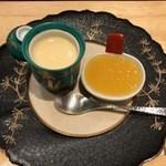 桐の - 蜜柑のジュレと蜜柑の卵蜜寄