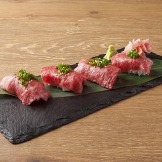 名物!南島原牛の炙り肉寿司