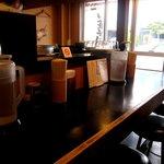 鶴麺 - カウンター席