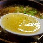 鶴麺 - 塩つけそば スープ
