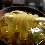 鶴麺 - 塩つけそば 麺をつける