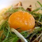 鶴麺 - 三元豚あえそば 但熊のたまご