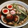 ひのき屋 - 料理写真:【丸鶏ブラック中華そば(黒胡椒入り) + 煮玉子】¥750 + ¥100