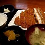 串鳥 - 何時ものビックチキンカツ定食。