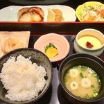 はかた天乃 - 「銀ダラ味噌定食」(850円)。