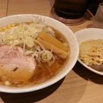 どさん子 - ラーメンセット(醤油)2018.2.4