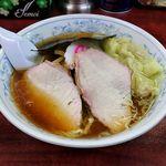 白河中華そば - 白河中華そば(支那雲吞麺 940円)