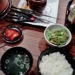炭火焼肉 牛宴 - ツボハラミ定食
