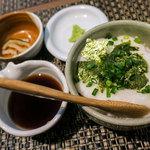 日本蕎麦&鉄板ダイニング 三ヶ森 - 「三ヶ森ランチ」(1,250円)のとろろ丼。