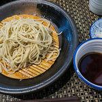日本蕎麦&鉄板ダイニング 三ヶ森 - 「三ヶ森ランチ」(1,250円)のお蕎麦せいろ。