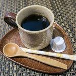 日本蕎麦&鉄板ダイニング 三ヶ森 - 蕎麦珈琲。香ばしくて美味しいんです。