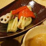 神戸ビーフ食品直営店 鉄板焼 銀座888 - ゴロゴロ温野菜