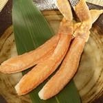 神戸ビーフ食品直営店 鉄板焼 銀座888 - ズワイ蟹の鉄板焼き