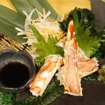 神戸ビーフ食品直営店 鉄板焼 銀座888 - たらば蟹のお造り
