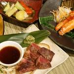 神戸ビーフ食品直営店 鉄板焼 銀座888 - 神戸牛、たらば蟹のコース