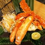 神戸ビーフ食品直営店 鉄板焼 銀座888 - たらば蟹のステーキ